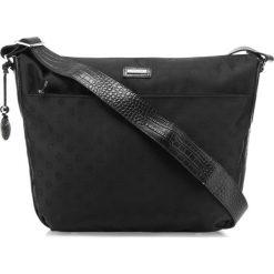 Torebka damska 85-4E-920-1. Czarne torebki klasyczne damskie marki Wittchen, w paski, z żakardem. Za 259,00 zł.