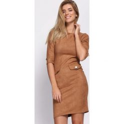Brązowa Sukienka Reach For Me. Brązowe sukienki mini Born2be, xl. Za 99,99 zł.