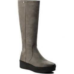 Kozaki EVA MINGE - Felipa 2W 17SM1372229EF 409. Szare buty zimowe damskie marki Eva Minge, z nubiku. W wyprzedaży za 319,00 zł.