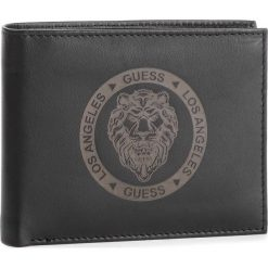Duży Portfel Męski GUESS - SM2558 LEA20 BLA. Czarne portfele męskie Guess, z aplikacjami, ze skóry. Za 279,00 zł.