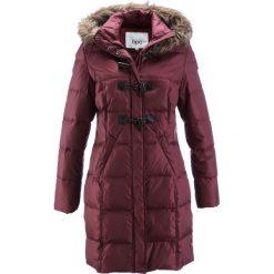 Płaszcze damskie pastelowe: Płaszcz pikowany (lekki puch) bonprix czerwony klonowy