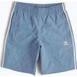 Adidas Originals - Męskie spodenki kąpielowe, niebieski. Brązowe spodenki sportowe męskie marki adidas Originals, z bawełny. Za 129,95 zł.