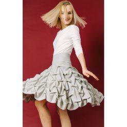 Spódnica spieniona damska midi jasnoszara. Białe spódnice wieczorowe marki Hultaj Polski, do pracy, na lato, l, z bawełny, ołówkowe. Za 269,00 zł.