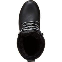 Buffalo Botki sznurowane black. Czarne botki damskie skórzane marki Buffalo, na sznurówki. W wyprzedaży za 252,85 zł.