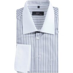 Koszula VITTORE 13-12-34. Białe koszule męskie na spinki Giacomo Conti, m, w paski, z bawełny, z klasycznym kołnierzykiem, z długim rękawem. Za 229,00 zł.