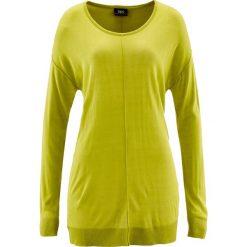 Swetry damskie: Sweter oversize bonprix pistacjowy