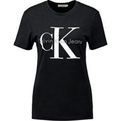 Calvin Klein Jeans Tshirt z nadrukiem black. Czarne t-shirty damskie Calvin Klein Jeans, xl, z nadrukiem, z bawełny. Za 219,00 zł.