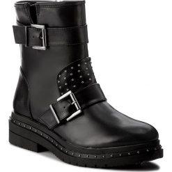 Botki TAMARIS - 1-25943-39 Black 001. Szare buty zimowe damskie marki Tamaris, z materiału, na sznurówki. W wyprzedaży za 239,00 zł.
