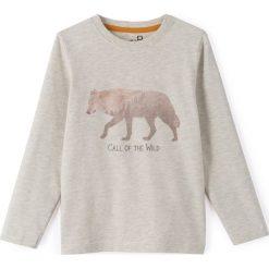 T-shirty chłopięce: T-shirt z nadrukiem wilka 3-12 lat