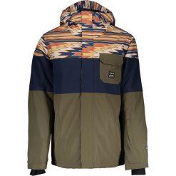 Kurtka narciarska w kolorze granatowo-oliwkowo-jasnobrązowym. Brązowe kurtki męskie marki Billabong, m. W wyprzedaży za 385,95 zł.