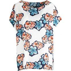 T-shirty damskie: Biało-Pomarańczowy T-shirt Wreath