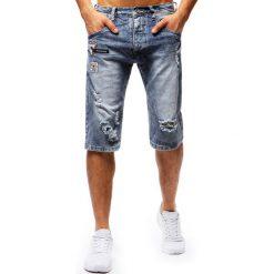 Spodenki i szorty męskie: Spodenki męskie jeansowe niebieskie (sx0673)