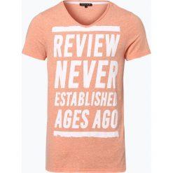 Review - T-shirt męski, pomarańczowy. Brązowe t-shirty męskie z nadrukiem Review, m. Za 39,95 zł.