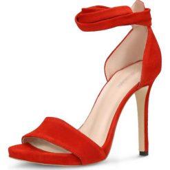 Sandały GINA. Czerwone sandały damskie Gino Rossi, ze skóry, na szpilce. Za 279,90 zł.