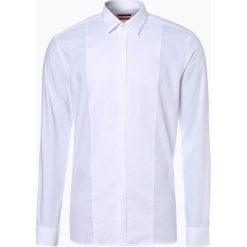HUGO - Koszula męska łatwa w prasowaniu – Easto, czarny. Czarne koszule męskie na spinki marki HUGO, m. Za 399,95 zł.