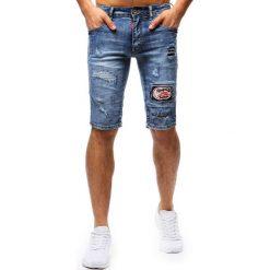 Spodenki i szorty męskie: Spodenki męskie jeansowe niebieskie (sx0678)