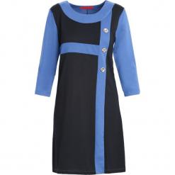 Niebiesko-Czarna Sukienka Since You're Gone. Czarne sukienki Born2be, na jesień, xl, midi. Za 39,99 zł.