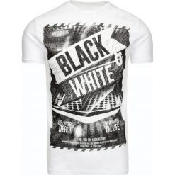 T-shirty męskie z nadrukiem: T-shirt męski z nadrukiem biały (rx1871)