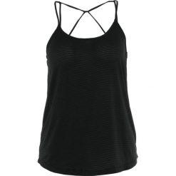 Manduka BREEZE OPEN BACK TANK Top black. Czarne topy damskie Manduka, l, z elastanu. Za 229,00 zł.