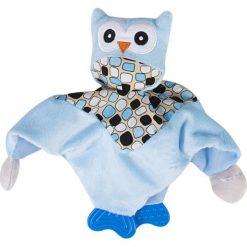 Niebieska przytulanka z sówką i gryzakiem. Niebieskie przytulanki i maskotki Sun Baby. Za 22,54 zł.