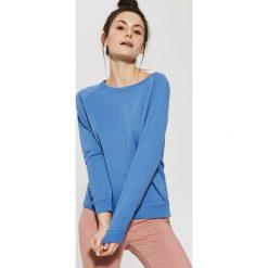 Bluzy damskie: Gładka bluza dresowa – Niebieski