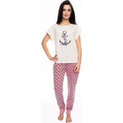 Damska piżama Marina. Białe piżamy męskie marki B'TWIN, m, z elastanu, z krótkim rękawem. Za 119,99 zł.