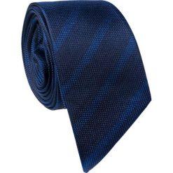 Jedwabny krawat  KWCS000259. Niebieskie krawaty męskie marki Giacomo Conti, w paski, z jedwabiu. Za 129,00 zł.