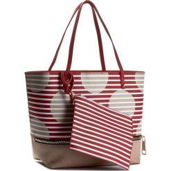 Torebka PATRIZIA PEPE - 2V6353/A2NC-F3L0 Red/Rose Dot&Stripes. Czerwone torebki klasyczne damskie marki Patrizia Pepe, ze skóry ekologicznej, duże. W wyprzedaży za 399,00 zł.