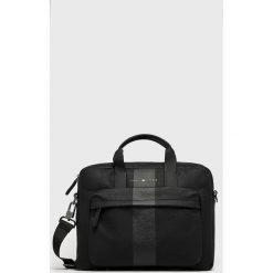 Tommy Hilfiger - Torba na laptopa. Szare torby na laptopa marki TOMMY HILFIGER, w paski, z materiału. Za 579,90 zł.