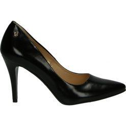 Czółenka - 101021 TN J18. Czarne buty ślubne damskie Venezia, ze skóry. Za 199,00 zł.