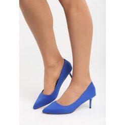 Buty ślubne damskie: Niebieskie Czółenka Feel Style