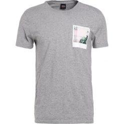 BOSS Orange TARJO Tshirt z nadrukiem grey melange. Szare koszulki polo BOSS Orange, m, z nadrukiem, z bawełny. Za 289,00 zł.