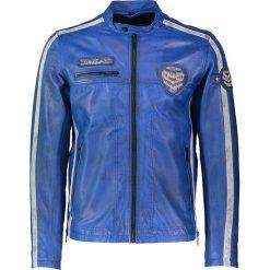 """Kurtki męskie bomber: Skórzana kurtka """"Daytona"""" w kolorze niebieskim"""