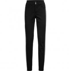 Dżinsy SKINNY z paskami bonprix czarno-srebrny. Czarne jeansy damskie skinny bonprix, w paski, z jeansu. Za 129,99 zł.