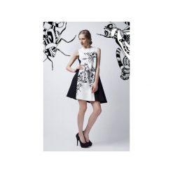 Czarno-biała sukienka. Białe sukienki na komunię Luiza kimak, m, z nadrukiem, z bawełny. Za 499,00 zł.