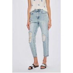Vero Moda - Jeansy Nineteen. Niebieskie boyfriendy damskie marki Vero Moda, z podwyższonym stanem. W wyprzedaży za 129,90 zł.