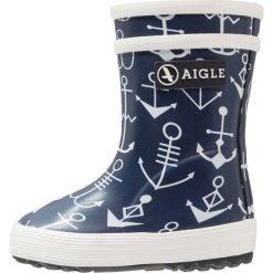 Aigle BABY FLAC KID Kalosze dark navy. Niebieskie kalosze damskie Aigle, z kauczuku. Za 139,00 zł.