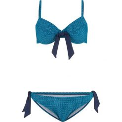 Bikini na fiszbinach (2 części) bonprix niebiesko-turkusowy. Niebieskie bikini bonprix. Za 69,99 zł.