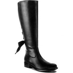 Oficerki WOJAS - 7726-51 Czarny. Czarne buty zimowe damskie Wojas, z materiału, na obcasie. W wyprzedaży za 479,00 zł.