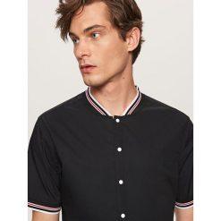 Koszule męskie na spinki: Koszula z paskami regular fit – Czarny