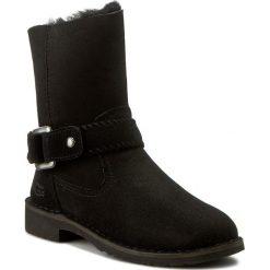 Botki UGG - W Cedric 1012360 W/Blk. Szare buty zimowe damskie marki Ugg, z materiału, z okrągłym noskiem. W wyprzedaży za 519,00 zł.