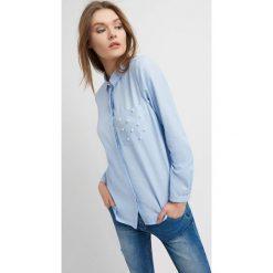 Odzież damska: Koszula z perełkami