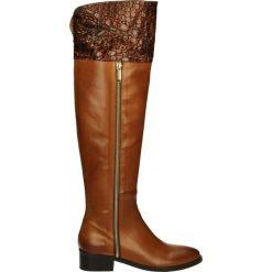 Kozaki - 2351 CUOI-RAM. Brązowe buty zimowe damskie Venezia, ze skóry. Za 359,00 zł.