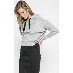 Noisy May - Bluza Aiden. Szare bluzy rozpinane damskie Noisy May, l, z bawełny, z kapturem. W wyprzedaży za 49,90 zł.
