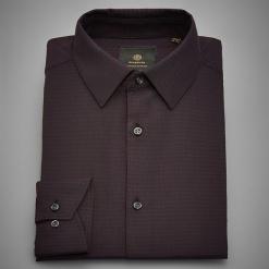Koszula z żakardowej tkaniny - Bordowy. Czerwone koszule męskie marki Cropp, l. Za 139,99 zł.