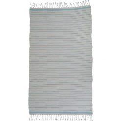 Kąpielówki męskie: Ręcznik w kolorze biało-niebieskim
