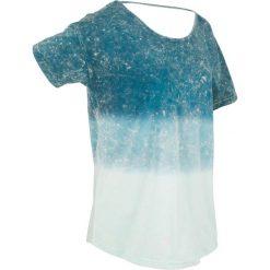 T-shirty damskie: T-shirt batikowy, krótki rękaw bonprix niebieskozielony morski