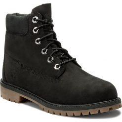 Trapery TIMBERLAND - 6 In Premium Wp Boot A14ZO Black. Czarne buty zimowe chłopięce marki Timberland, z gumy. W wyprzedaży za 389,00 zł.