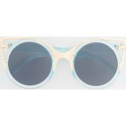 Okulary przeciwsłoneczne damskie: Okulary przeciwsłoneczne – Turkusowy