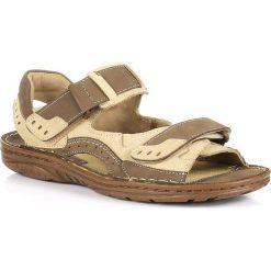 Sandały męskie skórzane: Skórzane sandały męskie lekkie komfortowe RAFADO 194